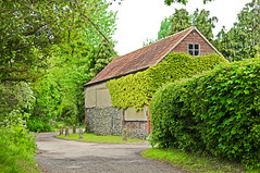 The Barn (teelawn) Tags: trees green barn geotagged hedge greenery shrubs nikond300 teelawn tinabarker
