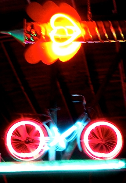 neon bicycle love too