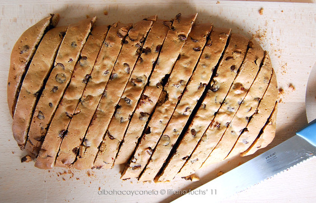 Chocolate cranberries biscotti