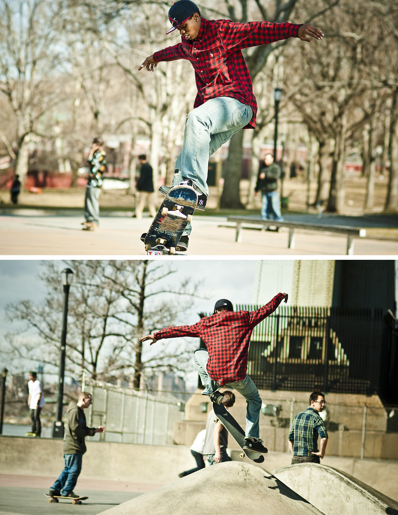 Fearless Skater in Astoria Park. Photograph taken by Jorge Quinteros