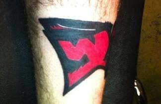 Rand Owen's Wabash Wolfpack tat #2