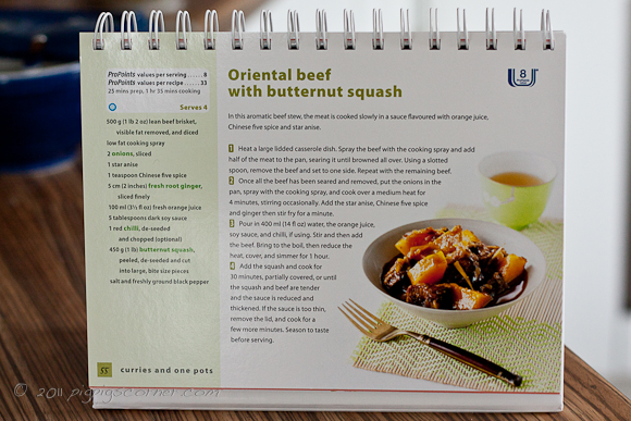 Weight Watchers Oriental Express recipe book 3