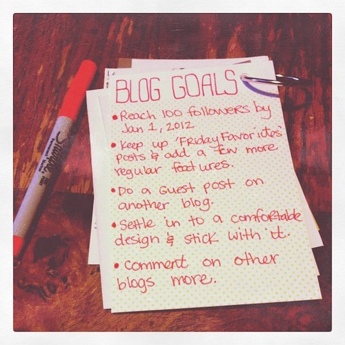 30 days of lists- blog goals