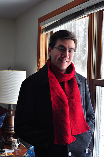jim's red scarf