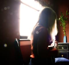 * (Lisa Toboz) Tags: portrait pittsburgh ukulele halo naturallight blonde softfocus jody bellevue sunflare elegy