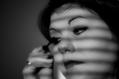 Beauty is but for a day (Mad_m4tty) Tags: portrait bw lines blind makeup mascara
