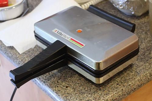 waffle iron foot. Exhibit A, the Waffle Iron.