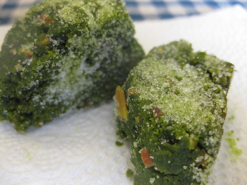 Sugar coated green tea cookie
