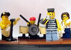 Lego Rock Band (swindeller) Tags: lego rockband minifigure minfig legoband legorock legoguitar legodrums