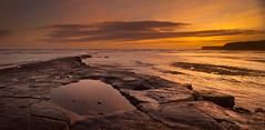 Kimmeridge Panorama (Alistair Haimes) Tags: sunset sea panorama nopeople scene coastal tranquil seaview kimmeridge kimmeridgebay southwestcoastalpath southwestcoastpath coastuk gettyimagesuklocation