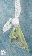 RTG-sage-with-little-flower (Polar Bear Creations Dolls) Tags: baby bunny animal easter cozy natural plush blanky softtoy babytoy oys