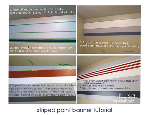 striped paint banner tutorial