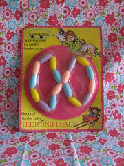 Teething Beads (Retro Mama69) Tags: vintagetoys retrotoys childhoodtoys teethingbeads juguetesnrfb toysmintcondition nrfbtoys dimestoretoys toysinpackage toysmadeinchina toysmadeinjapan