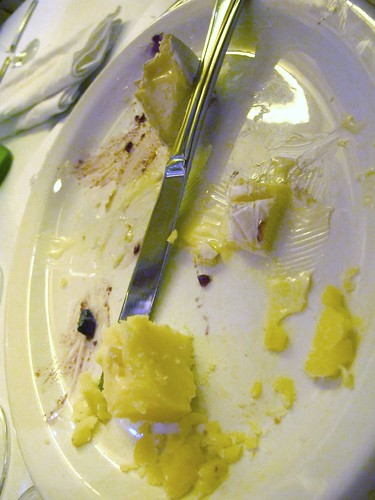 Remnants of cheese