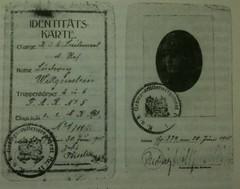 ID-Kärte de Ludwig Wittgenstein, 1918