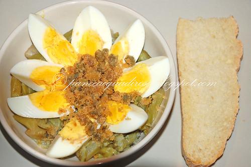 insalata di puntarelle e uova