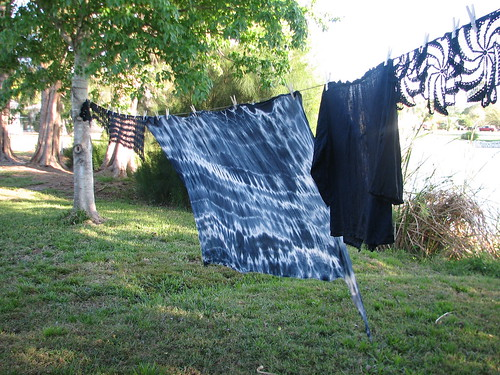 dyed gauze cotton and linen top