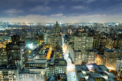 Washington Square Park and West Village at Night, New York City (andrew c mace) Tags: above nyc newyorkcity longexposure roof newyork rooftop skyline night cityscape manhattan washingtonsquarepark westvillage wideangle tokina1224 aerial colorefex nikoncapturenx nikond90