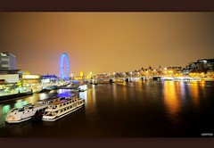 London by Night (raghavvidya) Tags: uk london eye thames night project river interestingness nikon long britain londonbynight sigma explore gb 365 1020mm day57 exposures longexposures 2011 d300s raghavvidya