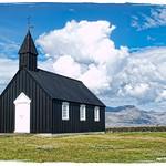 the black Búðir Church thumbnail