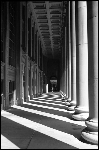 Columns and shadows at Union Station