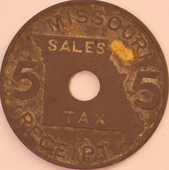 Missouri Sales Tax Receipt coin