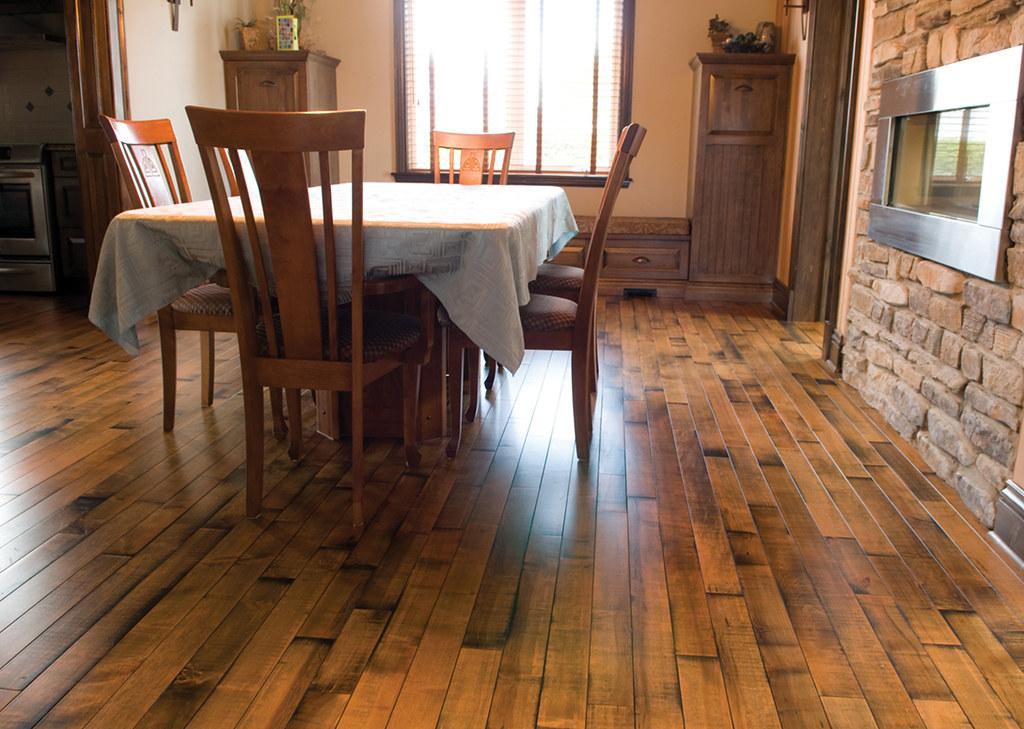 Idaho is a Maple Hardwood floor with a distinctive look