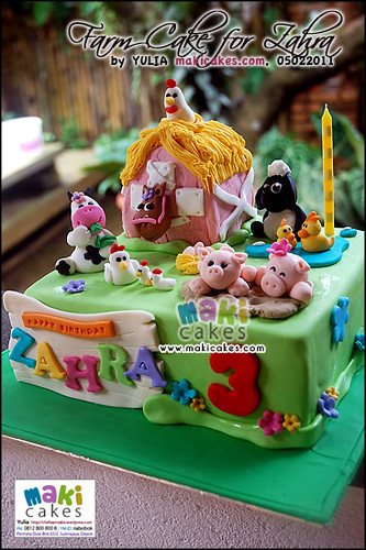 Farm Cake for Zahra - Maki Cakes