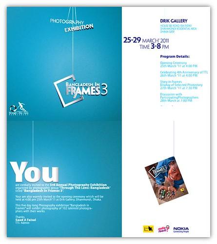 Bangladesh in Frames 3 Invitation Card published