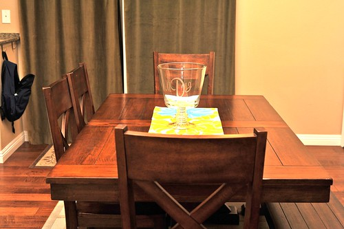 Dining Room Table Cleaned.
