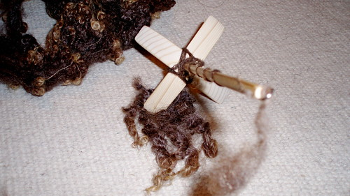 turkish spindle vs brown wensleydale fleece