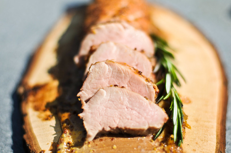 Planked Maple-Mustard Pork Tenderloin