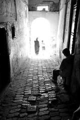 (Eloise S.) Tags: light man girl alley creepy morocco fez