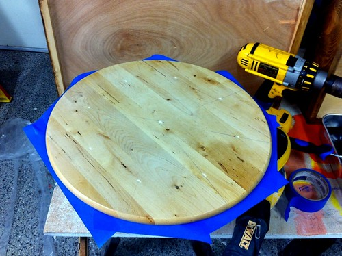 IKEA lazy susan, before painting.