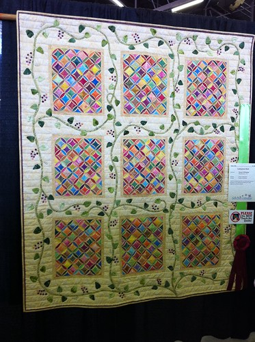 2011 Dallas Quilt Show- cathedral windows