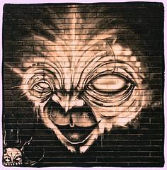 Fitzroy Graffiti Lith (Stephen J W) Tags: street classic graffiti melbourne brunswick bronica demon lith creature 129 131 acros sqb foma lc29 ilfotec zenzanon ps80 fotospeedld20