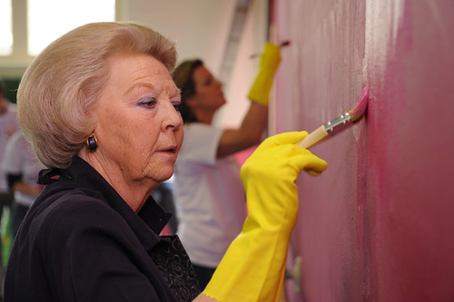 Queen Beatrix painting. Foto: Bart Homburg