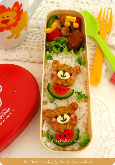 Bear & Watermelon Bento