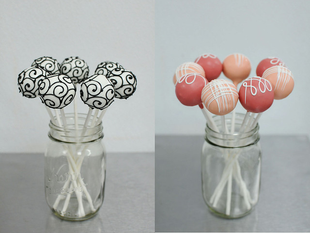 swirls, loops, and fine cross cake pops