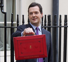 Chancellor George Osborne on Budget Day