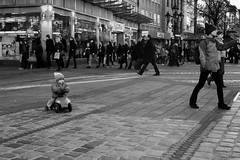Big World Adventure (gman_garry) Tags: bw germany bavaria streetscenes nuernberg 28mmf18 2011