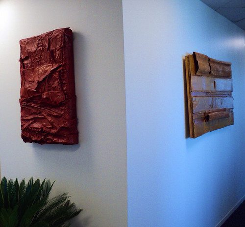 """Untitled (Copper)"" and ""Untitled (Gold)"" in their new home"