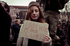 I didnt vote for these CU*TS (teddave) Tags: piccadilly vote cuts tories stjamess matthewstone torycuts marchforthealternative march26march tucmarch
