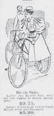 """Bicycle Suit"" (for woman) 1896"