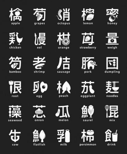汉字+食物
