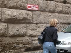 ciò nonostante (terevinci) Tags: street city italy motion rome roma movimento mura segnale targa divieto