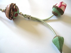 Vegetal necklace (By IC) Tags: necklace clay vegetal polymer
