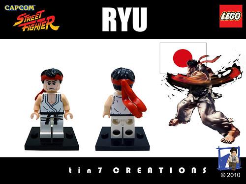 Custom minifig #05 - Ryu custom minifig