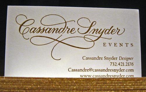 Cassandre Snyder - Letterpress / Foil / Edge Coloring