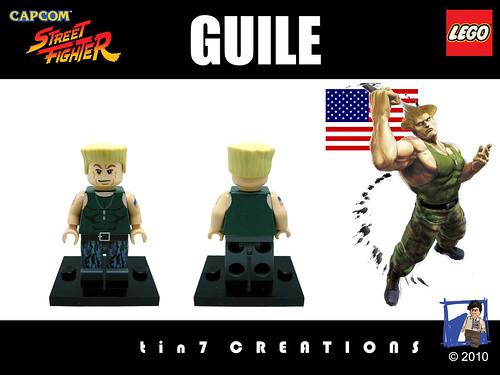 Custom minifig #06 - Guile custom minifig